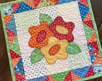Harvest Bouquet Mini Quilt Download Pattern