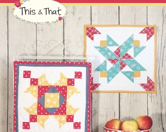 Barn Block Mini Quilt Series May June pattern
