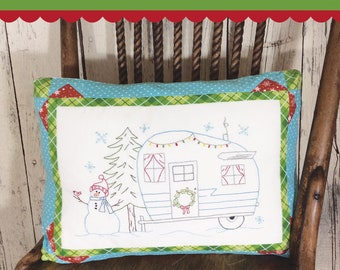 Candycane Camping Embroidery Pattern