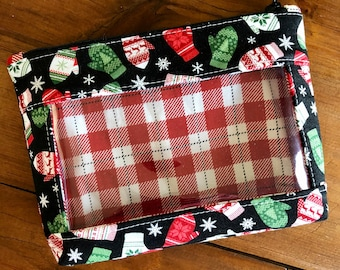 Mini Whatcha Got Notions Pouch for knitting, crochet or sewing Mittens fabric