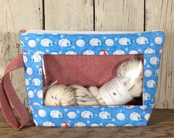 Knitting, Crochet or Embroidery pouch-Small Whatcha Got woodchuck