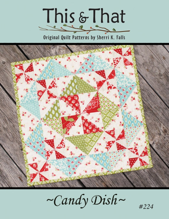 Candy Dish Quilt Download Pattern Etsy