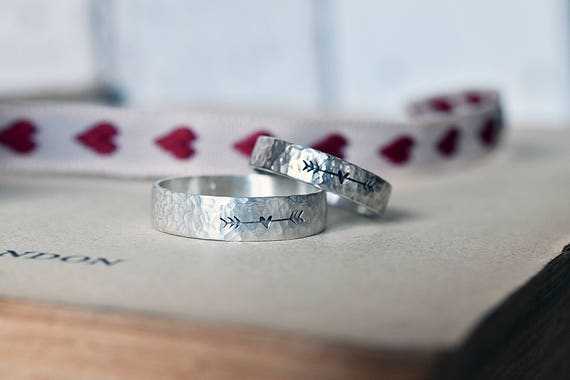 Promise Rings For Couples 2 Pcs Matching Rings Couple Ring Etsy