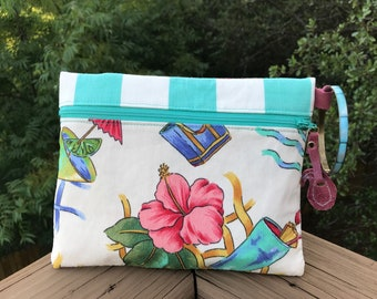 Summer Breeze Wristlet with Turquoise Bangle