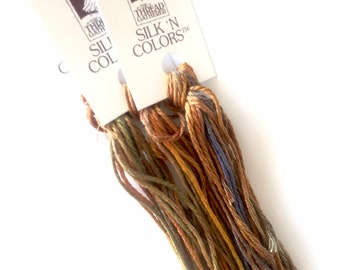 Canvas Work OL 011 High Desert Grass   Oriental Linen Hand Dyed by TheThreadGatherer Stitch Thread Embroidery Floss and Needlepoint.