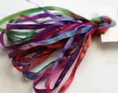 Silken Ribbons 4mm by The ThreadGatherer. SR4 994 Kaleidoscope