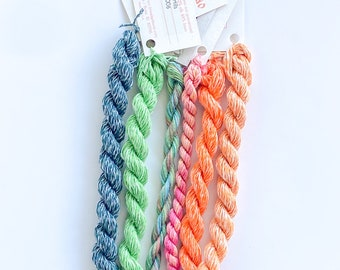 Irish Grove. Limited Edition Set. Specialty Embroidery Floss Handdyed by TheThreadGatherer. Silk Floss. Silk Threads