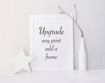 Frame Any Print, white wood frame