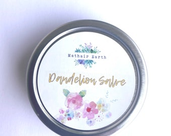 Dandelion Salve. Natural Herbal Salve by Mathair Earth. Herbal Salve. Skin Salve. All Natural Salve.