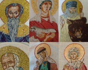 Custom Hand Embroidered Icons