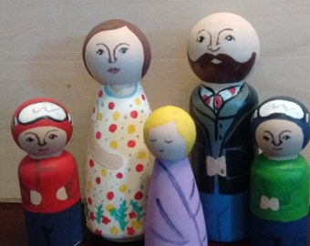 """Additional FIgure for """"My Family"""" Peg Doll Set"""