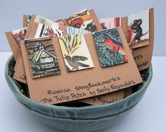 Vintage Russian Story Bookmarks (Set of 3)