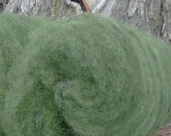 Hand Dyed Jacob Wool Batts (Slytherin)