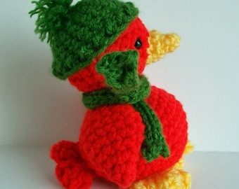 Crochet pattern Ready for Winter Red Bird
