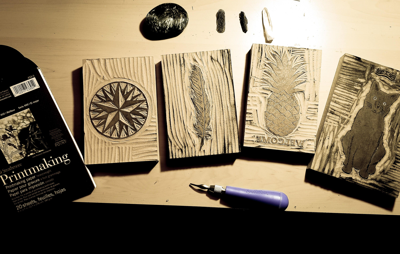 Black Ink Print Willow Tree - Original Handcrafted Linoleum Cut ...