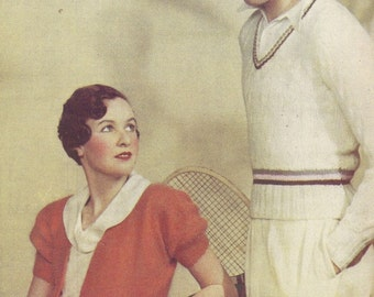 Cricket Jumper and Ladies Shrug Vintage Knitting Pattern 018