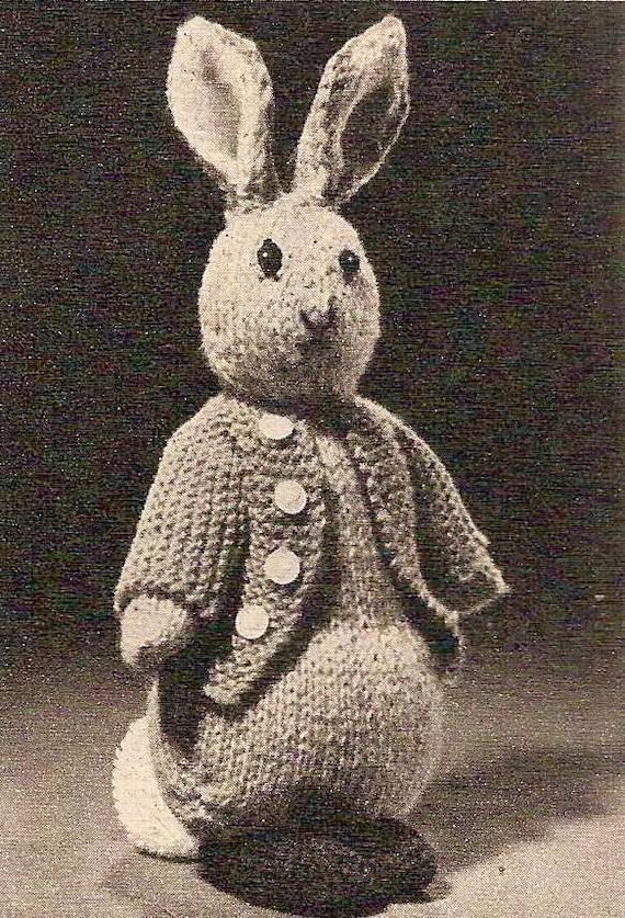 1955 Peter Rabbit Vintage Knitting Pattern 455 Etsy