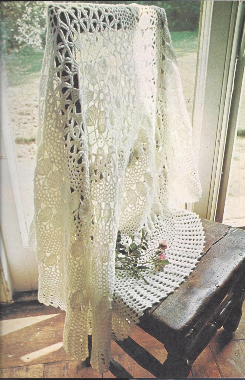 Beautiful Crochet Shawl Vintage Crochet Pattern 522 Etsy