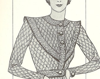 1934 Straight from Paris Vintage Knitting Pattern 034