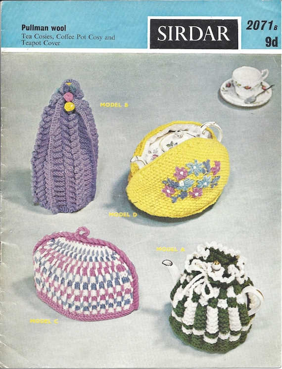 Tea Cosies Coffee Pot Cosy And Teapot Cover Vintage Knitting