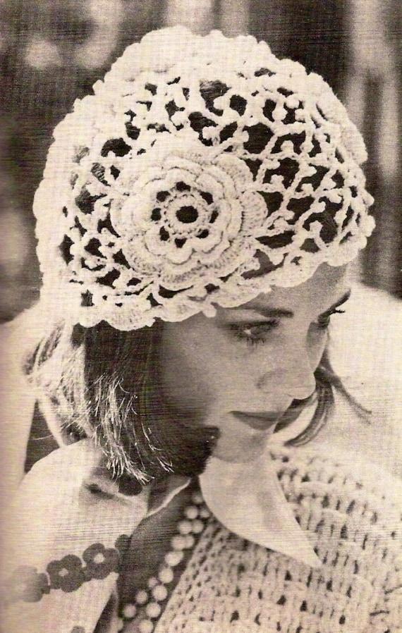 Irish Rose Crochet Hat Vintage Crochet Pattern 359 Etsy