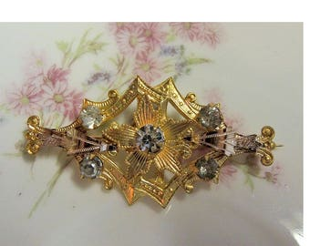 Victorian Rose Gold Sweetheart Brooch,  World War I, Early 1900's, Vintage Brooch, Valentine, Anniversary, Birthday Gift
