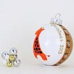 Baby's First Christmas - Giraffe glass ornament