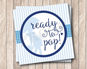 Instant Download . Printable Ready To Pop Tags, Printable Boy Baby Shower Tags