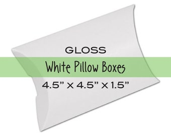 Gifts Pack of 10 Small White Pillow Pouches Sweets Craft Gift Box Boxes Scarfs Garments Soaps Jewellery
