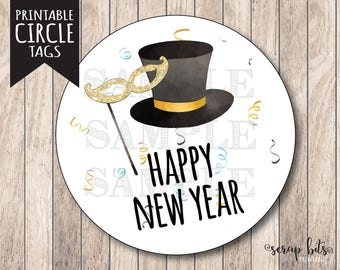 instant download happy new year tags new years eve tag printable new years tags happy new year labels
