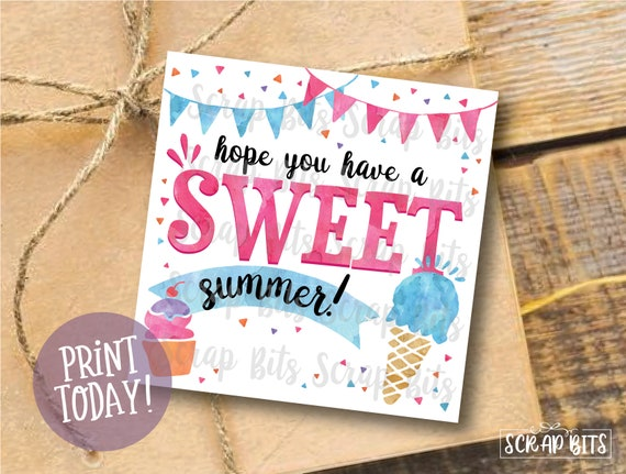 image relating to Have a Sweet Summer Printable identify Watercolor Close of Calendar year Tags, Count on By yourself Include A Lovable Summer season Tags, Printable Summer time Tags, Conclude of Higher education 12 months Tags . Fast Down load