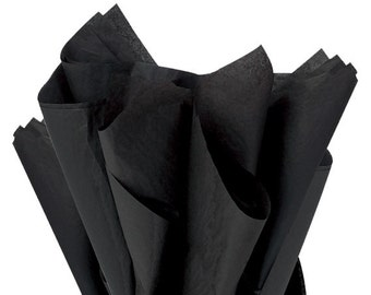 Black Tissue Paper . 20 x 30 inches . 24 sheets