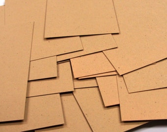 100 Mini Flat Cards in KRAFT . Blank Place Cards, Business Cards or Tags . 2 x 3.5