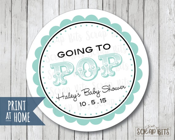 graphic about Baby Shower Tags Printable named Customized Printable Prepared Toward Pop Child Shower Tags, Printable Child Boy ShowerTags