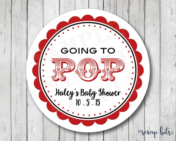 Personalized Going To Pop Stickers Ready To Pop Stickers Etsy