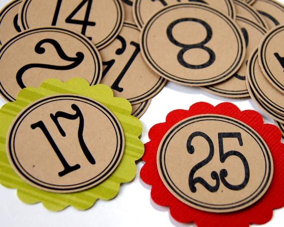 Items Similar To Advent Calendar Tags, Christmas Advent