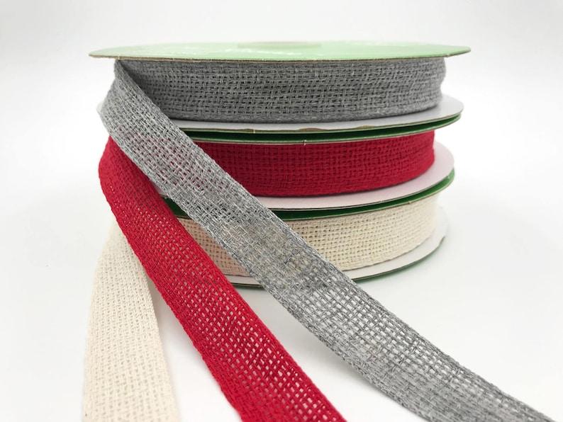 34 Inch Soft Open Weave Ribbon Grey Burlap Ribbon 3 yards