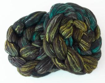 Hand dyed Alpaca, Mulberry silk, Merino, luxury fibre, felting projects, combed top, Falklands Merino, Nuno, felting materials, spinning