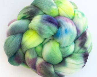 RAMBOUILLET, Hand dyed roving, Rambouillet Wool tops, hand spinners  wool, Cascade, 100g, Hand spinning wool, roving, Rambouillet, felting