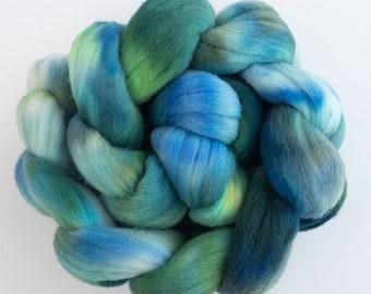 SPANISH MERINO Wool tops, Cadiz, fiber, wet felting,  Spanish Merino, hand dyed Merino, Hand spinning wool, Wet felting, needle felting