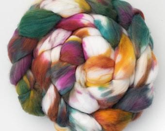 Hand dyed faux cashmere, vegan friendly fibre, Fake cashmere, Hand dyed roving vegan fiber, non wool roving, Cruelty free fiber
