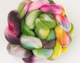 SPANISH MERINO Wool tops, Malaga , hand dyed fiber, Spanish Merino, hand dyed Merino, Hand spinning wool, felting fibre, felting wool tops