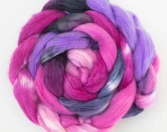 Hand dyed faux cashmere, vegan friendly fibre, Fake cashmere, Hand dyed vegan fiber, non wool spinning, Cruelty free fiber, vegetarian fibre