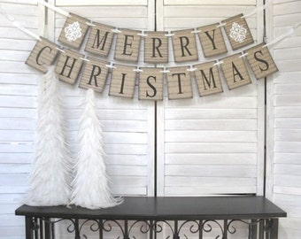 Merry Christmas Banner - sheet music background - pick one or two piece -Modern Farmhouse, Christmas photo, Rustic Charm, Christmas garland