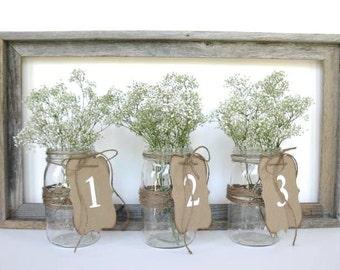 Wedding Table Numbers- 1-10 - kraft wedding number-choose color-wedding dinner-rustic wedding-wedding ceremony decor, rustic table numbers