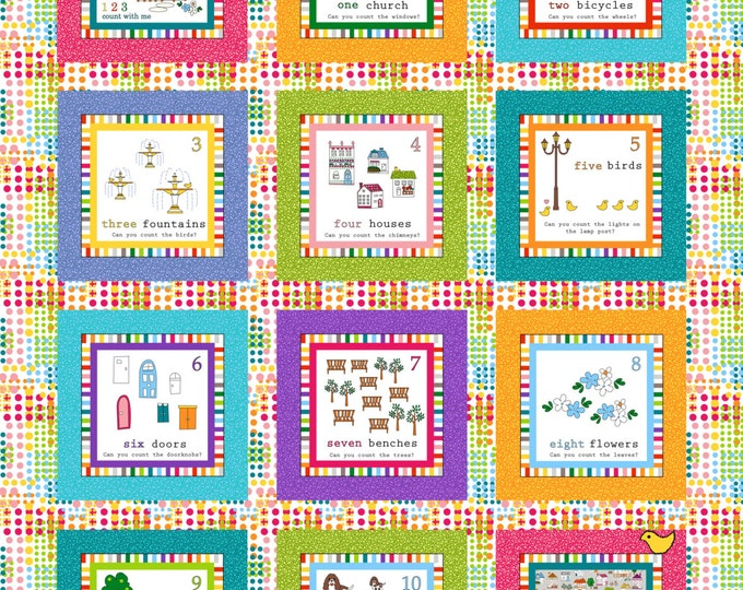 PDF Digial Download Count With Me Crib or Wall Hanging Pattern - Ellen Medlock Studio Design (#128X)