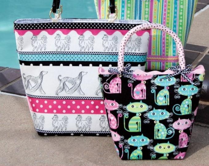 PDF Download of The Cheri Tote Bag DIY Purse Sewing Pattern  (#102X)