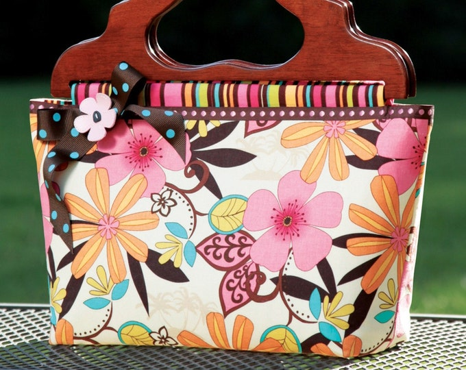 PDF Download of The Preppy Tote DIY Purse Bag Pattern Sewing Tutorial (#108X)