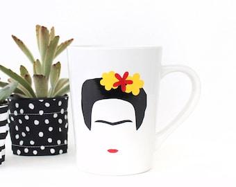 Frida Kahlo Coffee Mug - 14oz Ceramic Mug - Coffee Cup - Gifts for Her