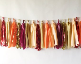 New! Harvest Tassel Garland